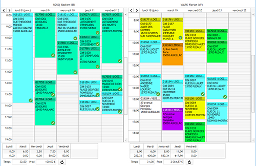 gestion de planning logiciel hygisoft